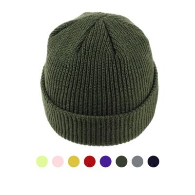 [디꾸보]솔리드 골지 숏 남녀공용 비니 모자 ET749
