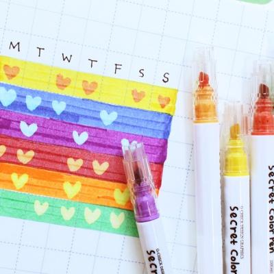 오첵 O-CHECK 색이 변하는 반전 시크릿 다꾸펜 세트