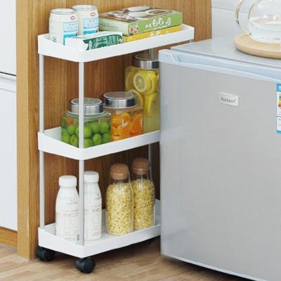 냉장고 틈새수납장 이동식 바뀌달린 틈새 수납장