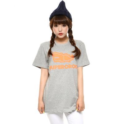슈퍼크록 엠보 오렌지 로고 티셔츠 메란지