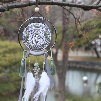 전통 영물 드림캐쳐 (백호)