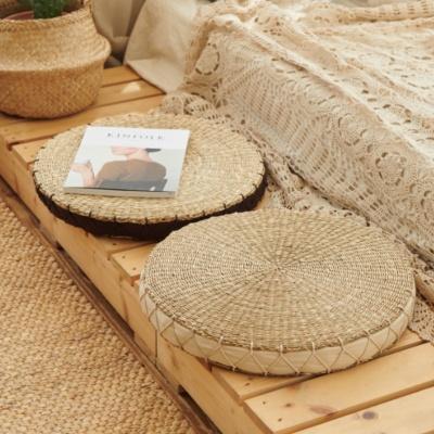 라탄 원형 해초 쿠션방석-사계절 다용도 왕골해초방석
