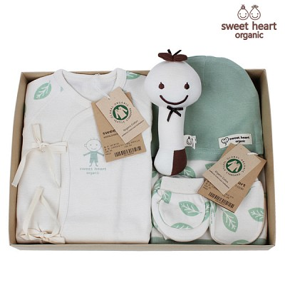 [출산선물]오가닉 나뭇잎 신생아 선물세트