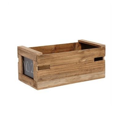 [Hubsch]Storage box w/black board, wood, nature 885025 우드박스