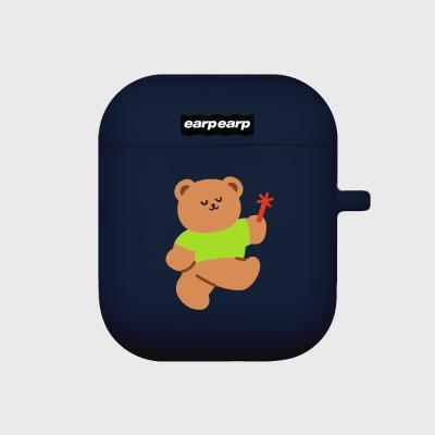 dancing bear-navy(Air pods)