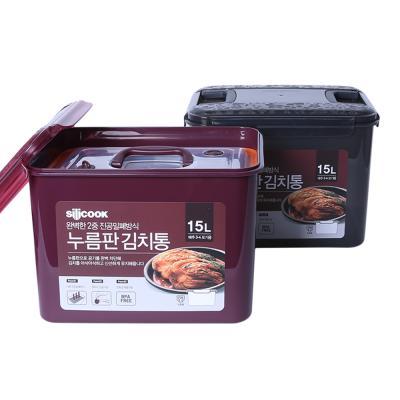 김치통15L+누름판 와인/블랙 택 1
