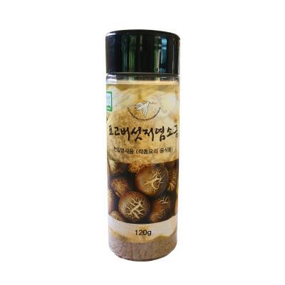 무농약 표고버섯 저염소금 120gx1통 표고버섯 25%