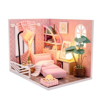 DIY 미니어처하우스 핑크패턴 작은방