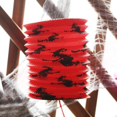 할로윈 원통등 23cm - 마녀 레드