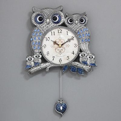 (kspz300)저소음 잉꼬부엉이 추 시계(주석)