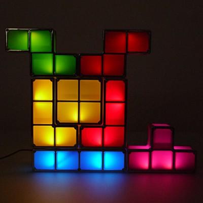 DIY 테트리스 라이트 퍼즐 무드등