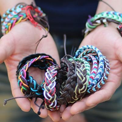 [릿지라인]감성캠핑 레더 브레이슬릿 Leather Bracelet