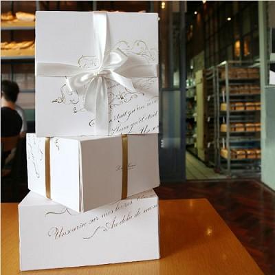 [대용량] 케익박스-화이트골드(흰색받침포함)-50개