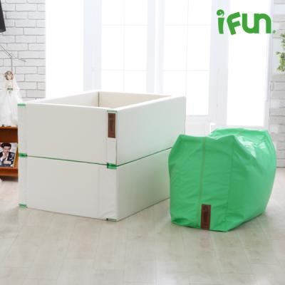 [아이펀]아이러브하우스 2단범퍼침대(Bean Bag 소파포함)