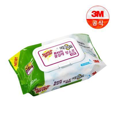 베이직 더블액션 물걸레 청소포 표준형 30매