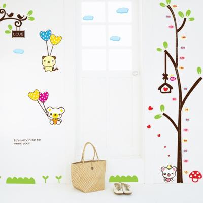곰돌이 키재기그래픽스티커