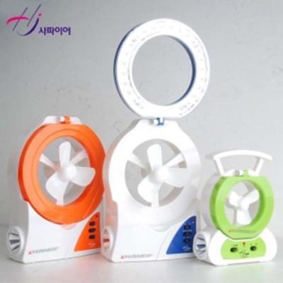 사파이어 12cm LED 랜턴팬 HJ-L500-R/B