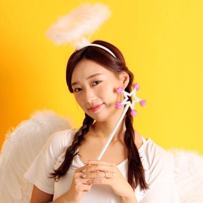 천사날개 머리띠 천사봉 세트 (대형)