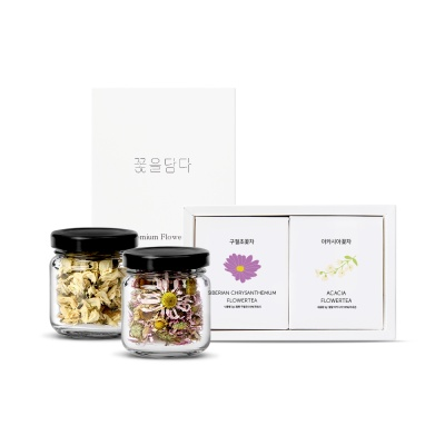 특별한 선물 미니꽃차2종 선물세트+쇼핑백