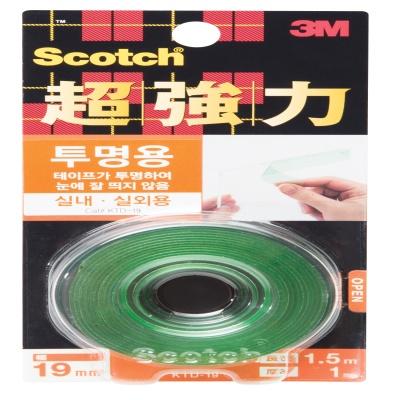3M 스카치™ 초강력 투명 폼 양면테이프 KTD-19