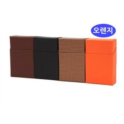 담뱃케이스 오렌지 빗살무늬일반형 담뱃파우치 담뱃각