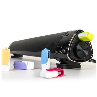 TG삼보 플레이백 사운드바 스피커 TG-SB9000A (AC전원 / USB메모리 & MicroSD 카드 재생 / MP3 & 스마트폰 등 외부입력 AUX단자 / 스마트폰 충전 지원)