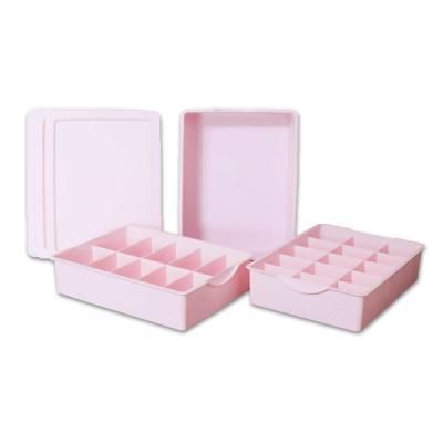 키친아트 다용도 속옷정리함 PP 3종세트 (핑크)