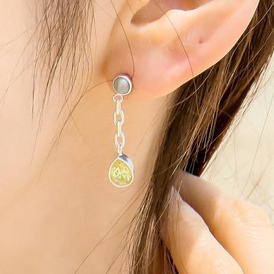 i_e71 - tropical lime _ gray earring