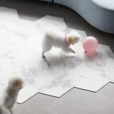 대리석 픽 모듈 미끄럼방지 강아지매트 10p