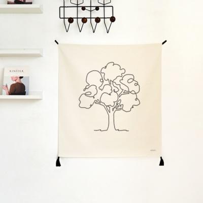 나무 드로잉 패브릭 포스터 / 가리개 커튼
