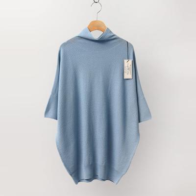 Laine Wool Half Turtleneck Sweater - 반팔