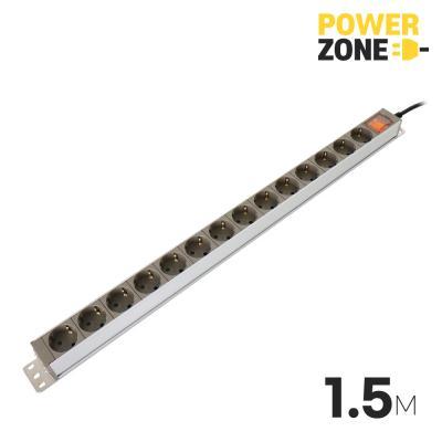 [파워존] 메인일반 알루미늄멀티탭 14구 1.5M
