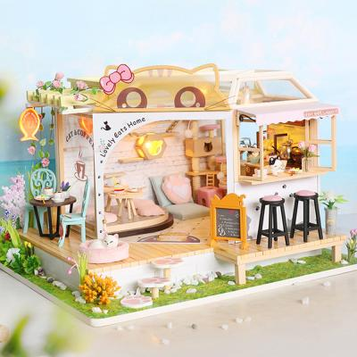 DIY 미니어처 하우스 - 고양이 카페