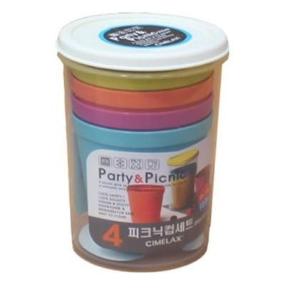 씨밀렉스 피크닉 컵세트 4P 캠핑컵 등산 물컵 물잔