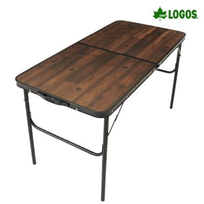 로고스 블랙 우드 접이식 테이블 1200