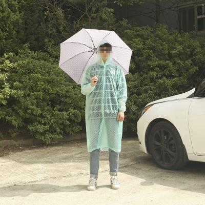 컬러풀 패션우의 / 투명모자창 레인코트
