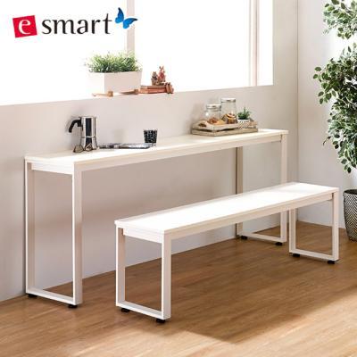 스틸 테이블1600x400+벤치의자세트 (사각다리)