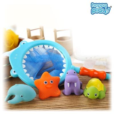 바다친구 아기목욕놀이 유아 물놀이 뜰채 장난감 상어