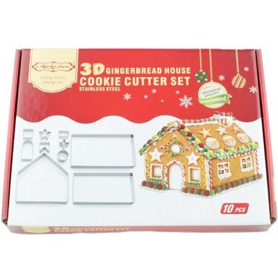 3D 입체 하우스 스텐 쿠키커터세트 / 10p 쿠키틀