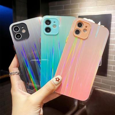 아이폰12 미니 11 pro max 홀로그램 글라스 폰 케이스
