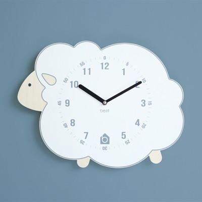 [BEZIT] WHITE LAMB Wall Clock(무소음 벽시계)
