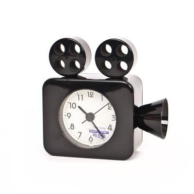 저소음 영사기 알람시계 - 블랙