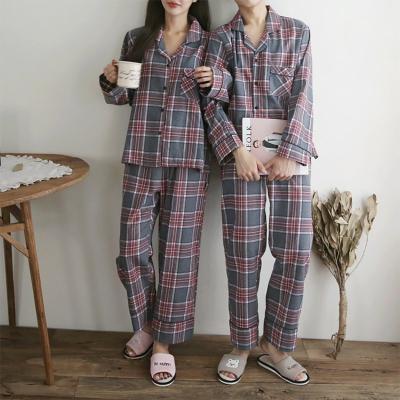 Gimo Tartan Pajama Set - 커플룩