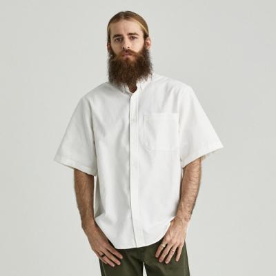 CB 옥스포드 반팔 셔츠 (화이트)