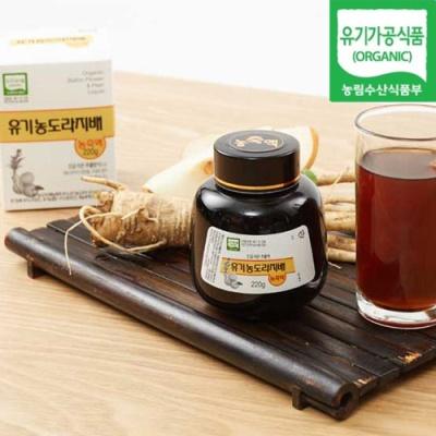 [유기가공인증] 도라지,배 농축액 220gx2병