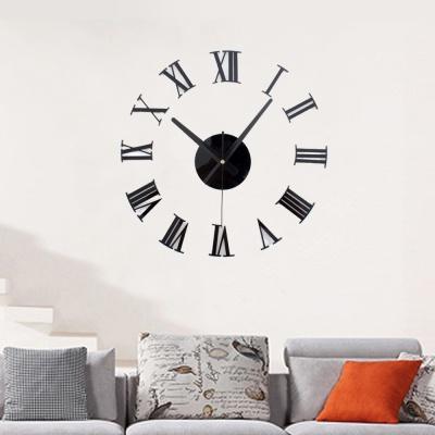 DIY 로마숫자 붙이는 벽시계(블랙)