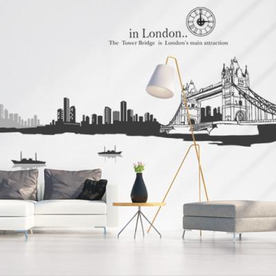 ih585-런던의야경(2톤)_그래픽시계