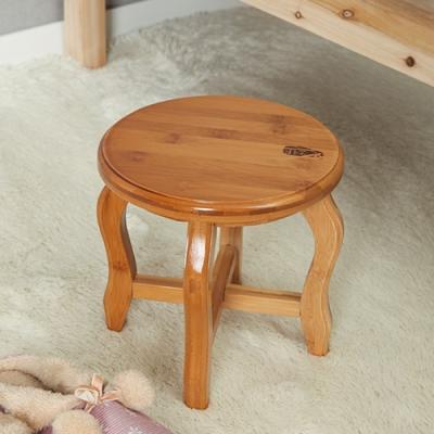 미니멀 대나무 원형 의자 1P