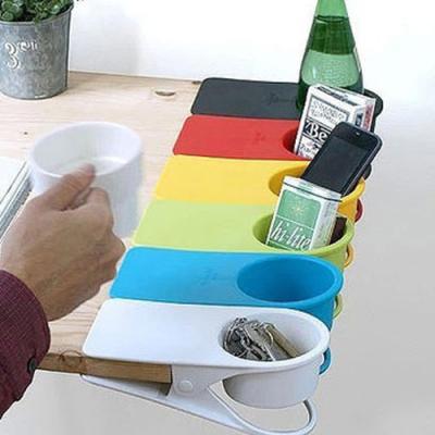 기본형 집게 컵 클립 홀더개(색상랜덤)