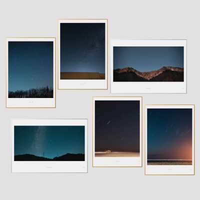 인테리어액자 나이트 시리즈 6종 (A3 Print+액자)